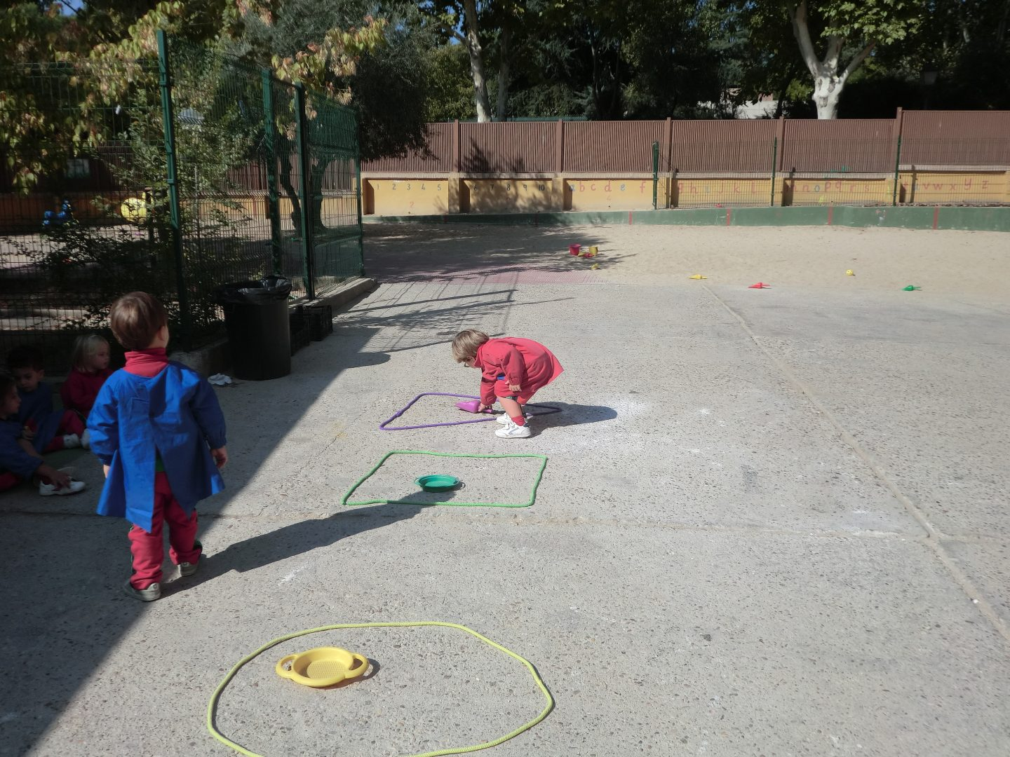 Nursery maths outside